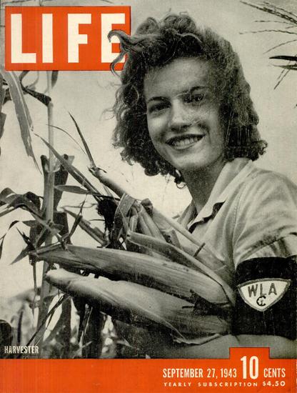 Harvester 27 Sep 1943 Copyright Life Magazine | Life Magazine BW Photo Covers 1936-1970