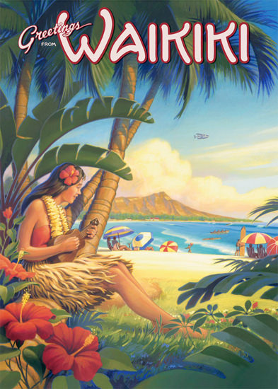 Hawaii Greetings from Waikiki Girl | Sex Appeal Vintage Ads and Covers 1891-1970