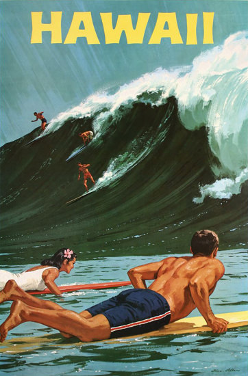 Hawaii Surfing Girl 1950s | Sex Appeal Vintage Ads and Covers 1891-1970