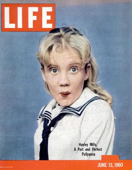 Hayley Mills perfect Pollyanna 13 Jun 1960 Copyright Life Magazine | Life Magazine Color Photo Covers 1937-1970