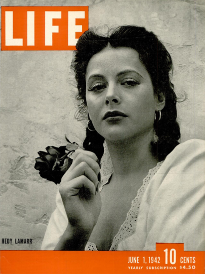 Hedy Lamarr 1 Jun 1942 Copyright Life Magazine | Life Magazine BW Photo Covers 1936-1970