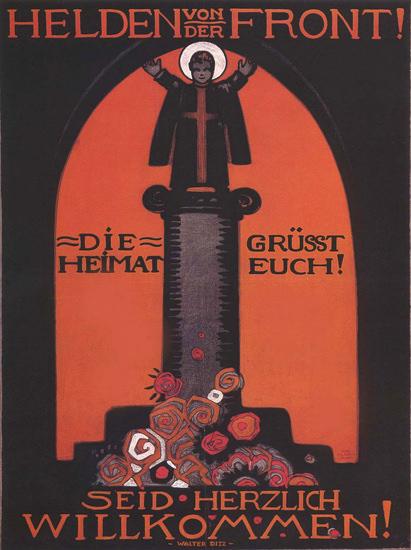 Helden Von der Front Willkommen Welcome Home   Vintage War Propaganda Posters 1891-1970