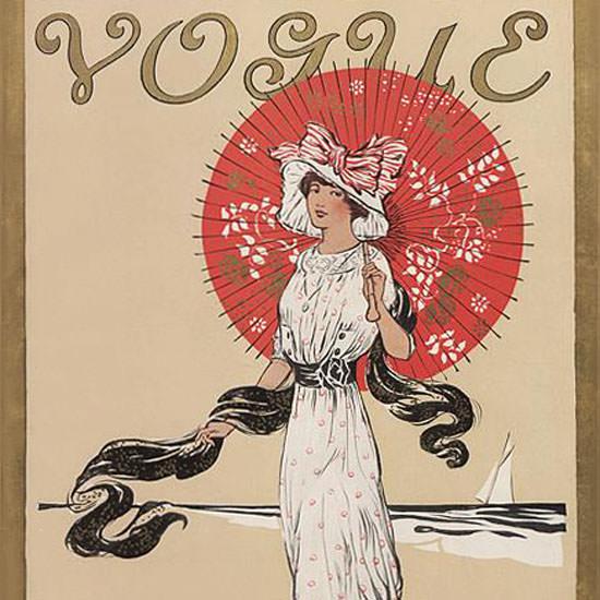 Helen Dryden Vogue Cover 1910-08-01 Copyright crop | Best of Vintage Cover Art 1900-1970