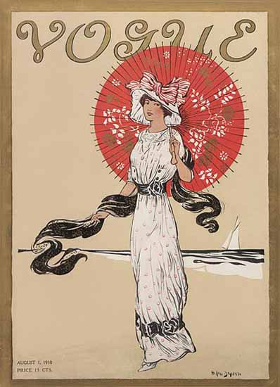 Helen Dryden Vogue Cover 1910-08-01 Copyright | Vogue Magazine Graphic Art Covers 1902-1958