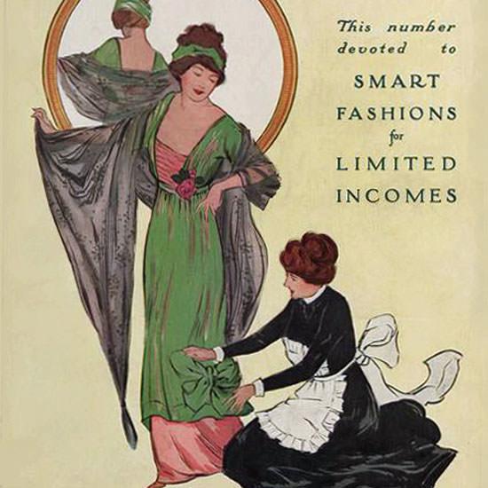 Helen Dryden Vogue Cover 1911-02-01 Copyright crop | Best of Vintage Cover Art 1900-1970