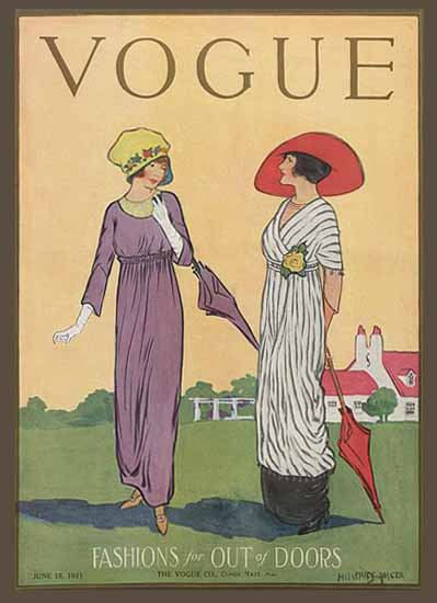 Helen Dryden Vogue Cover 1911-06-15 Copyright | Vogue Magazine Graphic Art Covers 1902-1958