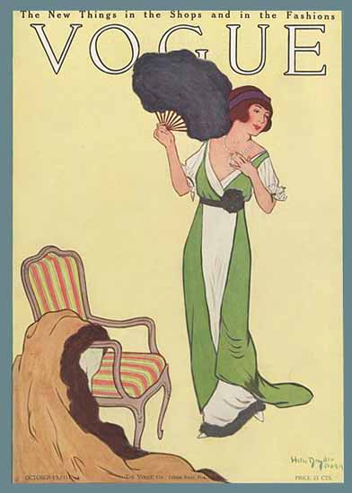 Helen Dryden Vogue Cover 1911-10-15 Copyright | Vogue Magazine Graphic Art Covers 1902-1958