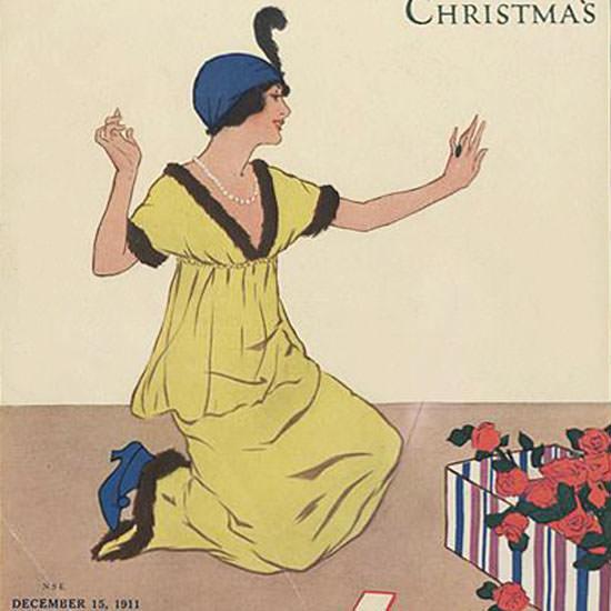 Helen Dryden Vogue Cover 1911-12-15 Copyright crop | Best of Vintage Cover Art 1900-1970