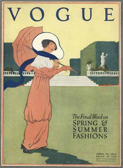Helen Dryden Vogue Cover 1912-04-15 Copyright | Vogue Magazine Graphic Art Covers 1902-1958
