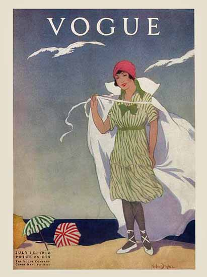 Helen Dryden Vogue Cover 1912-07-15 Copyright | Vogue Magazine Graphic Art Covers 1902-1958
