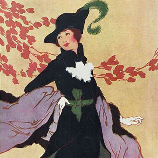 Helen Dryden Vogue Cover 1912-11-01 Copyright crop | Best of Vintage Cover Art 1900-1970