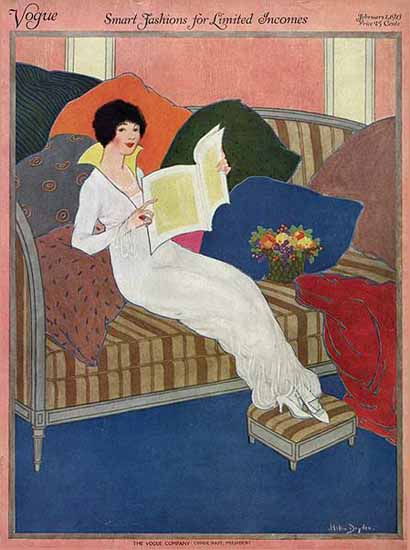 Helen Dryden Vogue Cover 1913-02-01 Copyright | Vogue Magazine Graphic Art Covers 1902-1958
