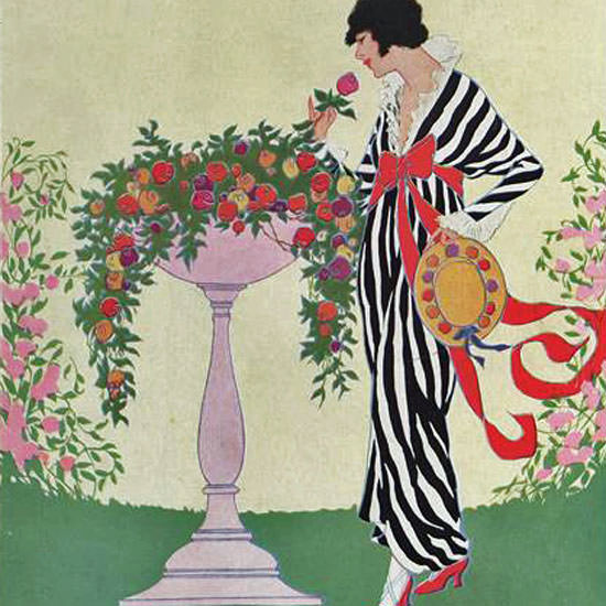 Helen Dryden Vogue Cover 1913-06-01 Copyright crop | Best of Vintage Cover Art 1900-1970