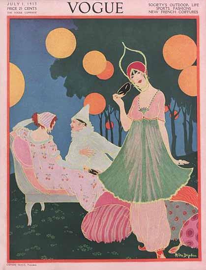 Helen Dryden Vogue Cover 1913-07-01 Copyright | Vogue Magazine Graphic Art Covers 1902-1958