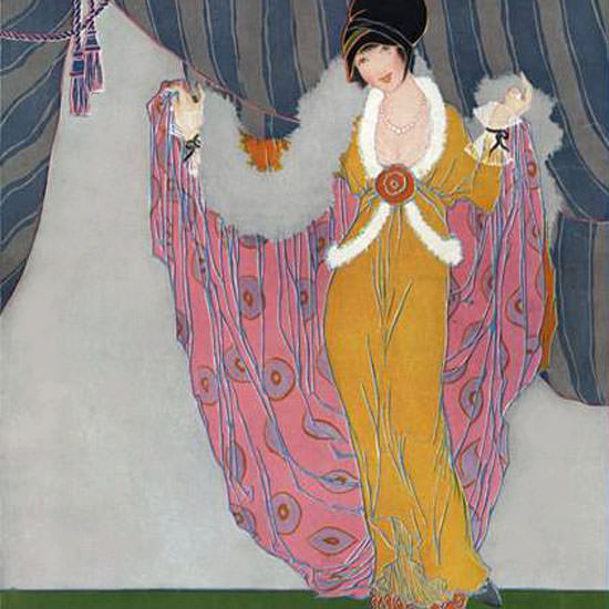 Helen Dryden Vogue Cover 1913-10-01 Copyright crop | Best of Vintage Cover Art 1900-1970