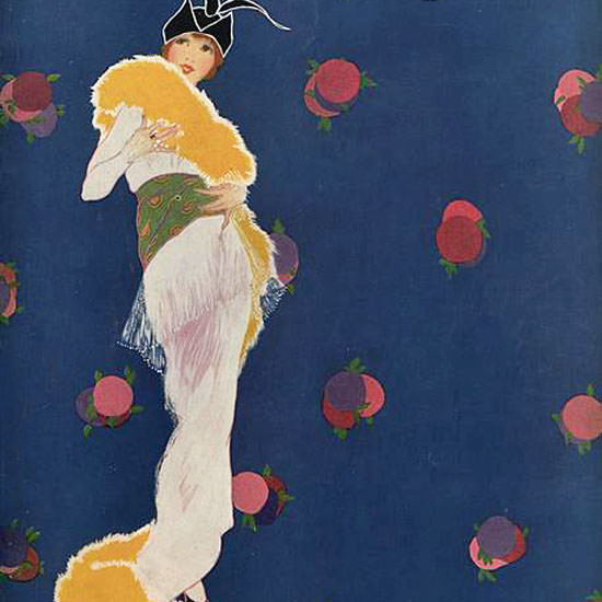 Helen Dryden Vogue Cover 1913-11-01 Copyright crop | Best of Vintage Cover Art 1900-1970