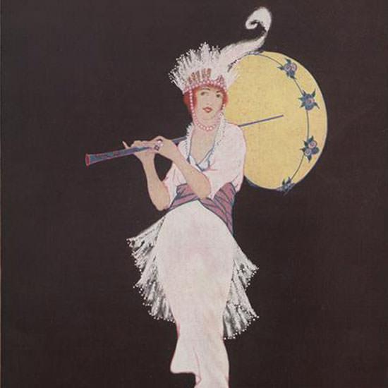 Helen Dryden Vogue Cover 1914-01-15 Copyright crop | Best of Vintage Cover Art 1900-1970