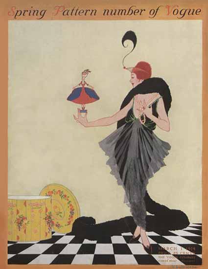 Helen Dryden Vogue Cover 1914-03-01 Copyright | Vogue Magazine Graphic Art Covers 1902-1958
