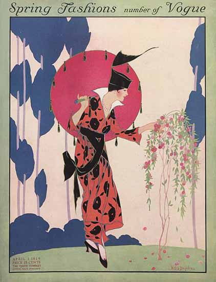 Helen Dryden Vogue Cover 1914-04-01 Copyright | Vogue Magazine Graphic Art Covers 1902-1958