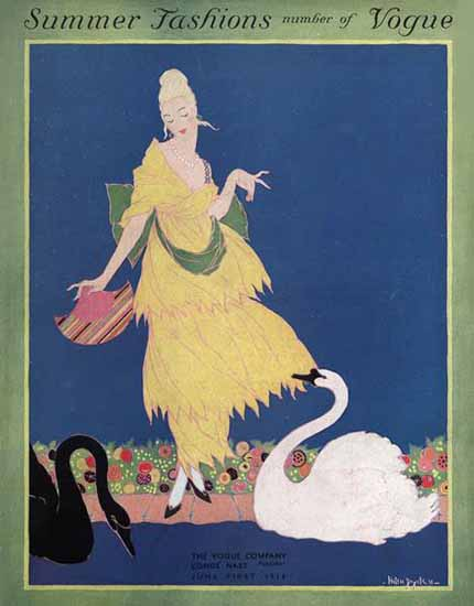 Helen Dryden Vogue Cover 1914-06-01 Copyright | Vogue Magazine Graphic Art Covers 1902-1958