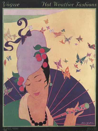 Helen Dryden Vogue Cover 1914-07-01 Copyright | Vogue Magazine Graphic Art Covers 1902-1958