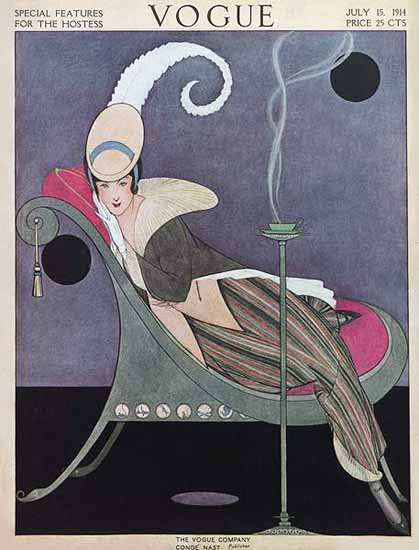 Helen Dryden Vogue Cover 1914-07-15 Copyright | Vogue Magazine Graphic Art Covers 1902-1958