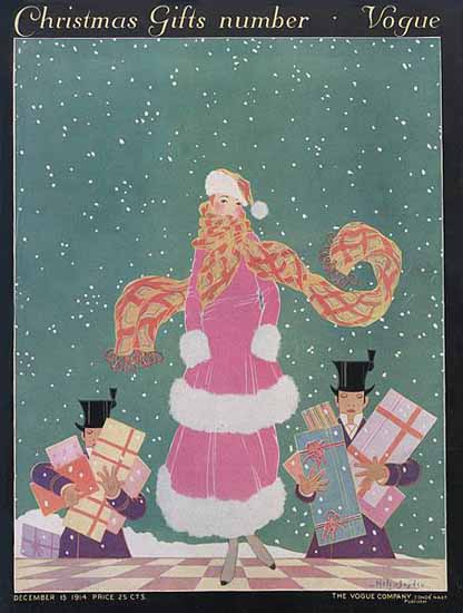 Helen Dryden Vogue Cover 1914-12-15 Copyright | Vogue Magazine Graphic Art Covers 1902-1958