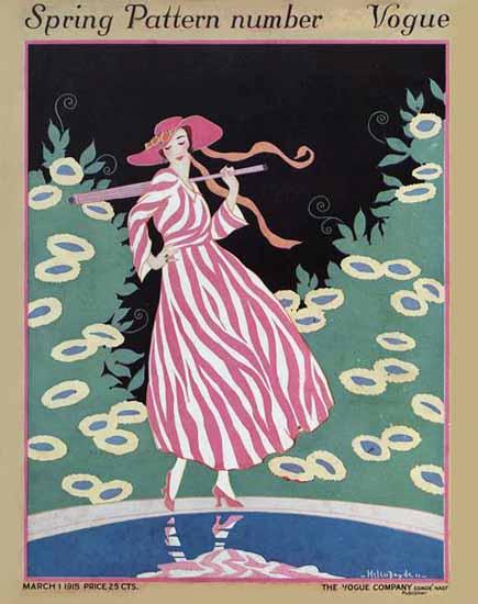 Helen Dryden Vogue Cover 1915-03-01 Copyright | Vogue Magazine Graphic Art Covers 1902-1958