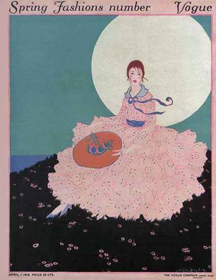 Helen Dryden Vogue Cover 1915-04-01 Copyright | Vogue Magazine Graphic Art Covers 1902-1958