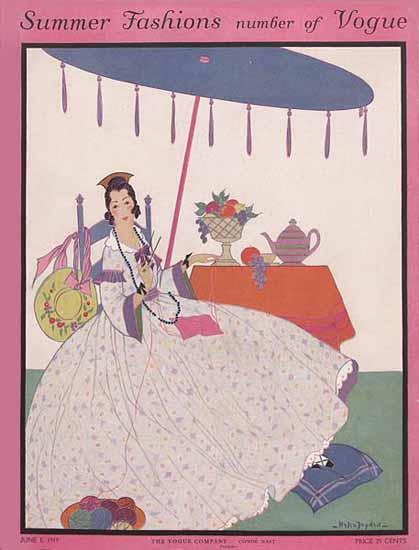Helen Dryden Vogue Cover 1915-06-01 Copyright | Vogue Magazine Graphic Art Covers 1902-1958