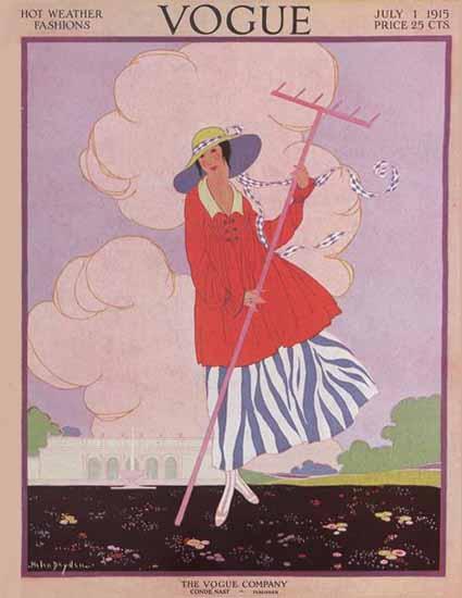 Helen Dryden Vogue Cover 1915-07-01 Copyright   Vogue Magazine Graphic Art Covers 1902-1958