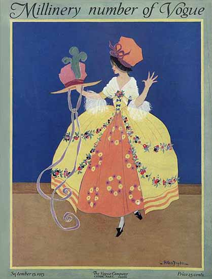 Helen Dryden Vogue Cover 1915-09-15 Copyright | Vogue Magazine Graphic Art Covers 1902-1958