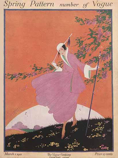 Helen Dryden Vogue Cover 1916-03-01 Copyright | Vogue Magazine Graphic Art Covers 1902-1958