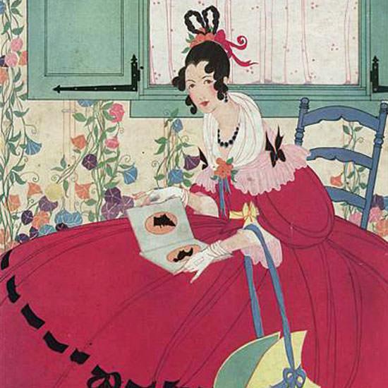 Helen Dryden Vogue Cover 1916-04-01 Copyright crop | Best of Vintage Cover Art 1900-1970