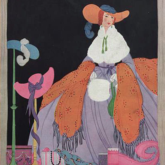 Helen Dryden Vogue Cover 1916-09-01 Copyright crop | Best of Vintage Cover Art 1900-1970