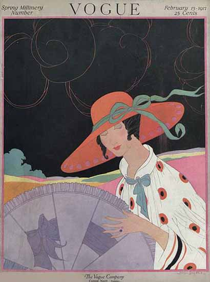 Helen Dryden Vogue Cover 1917-02-15 Copyright | Vogue Magazine Graphic Art Covers 1902-1958