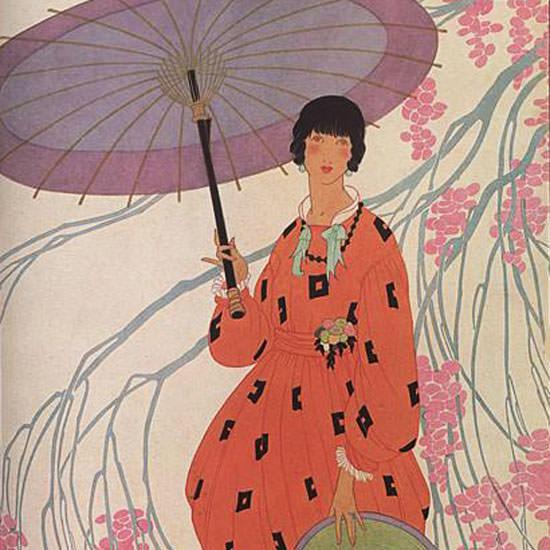 Helen Dryden Vogue Cover 1917-04-01 Copyright crop | Best of Vintage Cover Art 1900-1970