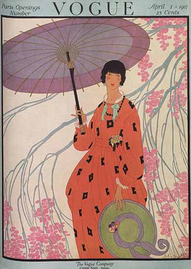 Helen Dryden Vogue Cover 1917-04-01 Copyright | Vogue Magazine Graphic Art Covers 1902-1958