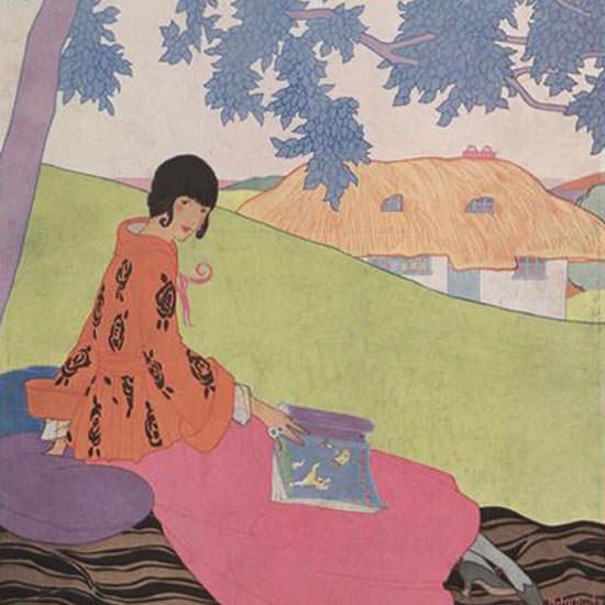 Helen Dryden Vogue Cover 1917-06-01 Copyright crop | Best of Vintage Cover Art 1900-1970