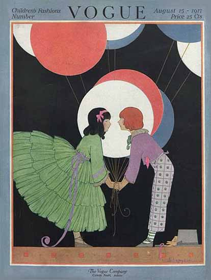 Helen Dryden Vogue Cover 1917-08-15 Copyright | Vogue Magazine Graphic Art Covers 1902-1958