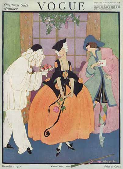 Helen Dryden Vogue Cover 1917-12-01 Copyright | Vogue Magazine Graphic Art Covers 1902-1958