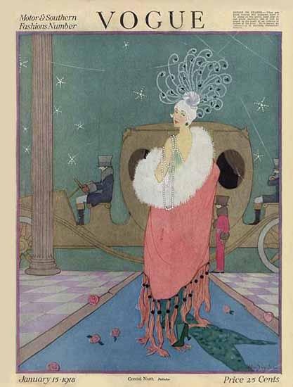 Helen Dryden Vogue Cover 1918-01-15 Copyright | Vogue Magazine Graphic Art Covers 1902-1958
