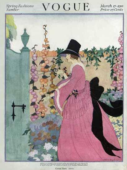 Helen Dryden Vogue Cover 1918-03-15 Copyright | Vogue Magazine Graphic Art Covers 1902-1958