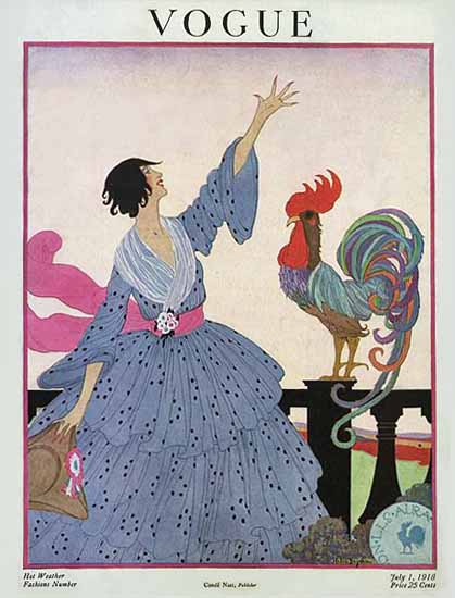 Helen Dryden Vogue Cover 1918-07-01 Copyright | Vogue Magazine Graphic Art Covers 1902-1958