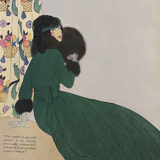 Helen Dryden Vogue Cover 1918-10-01 Copyright crop | Best of Vintage Cover Art 1900-1970