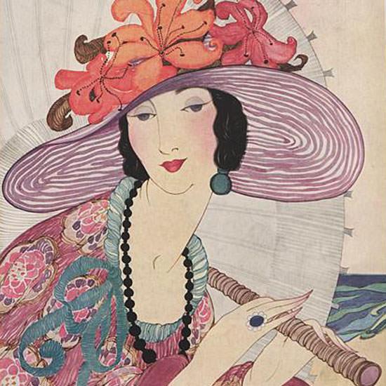 Helen Dryden Vogue Cover 1919-06-01 Copyright crop | Best of Vintage Cover Art 1900-1970