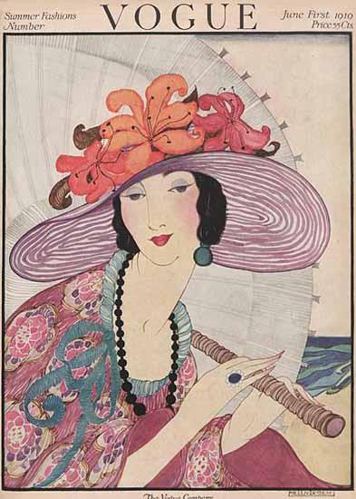 Helen Dryden Vogue Cover 1919-06-01 Copyright | Vogue Magazine Graphic Art Covers 1902-1958