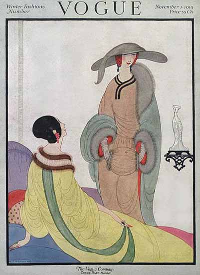 Helen Dryden Vogue Cover 1919-11-01 Copyright | Vogue Magazine Graphic Art Covers 1902-1958