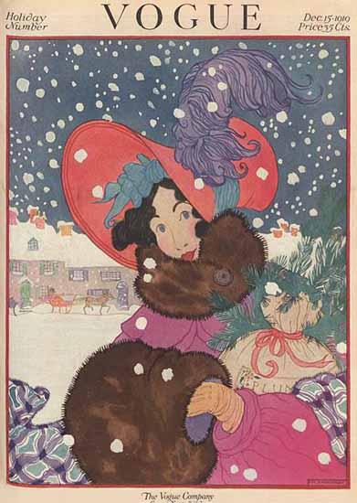 Helen Dryden Vogue Cover 1919-12-15 Copyright | Vogue Magazine Graphic Art Covers 1902-1958