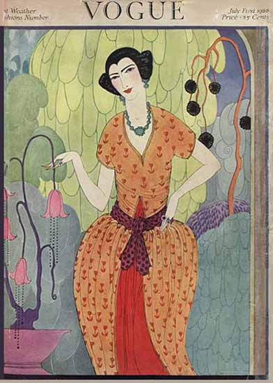 Helen Dryden Vogue Cover 1920-07-01 Copyright | Vogue Magazine Graphic Art Covers 1902-1958